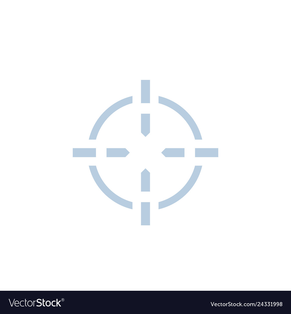 Crosshair icon for web and print