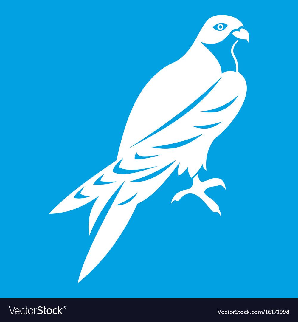 Falcon icon white