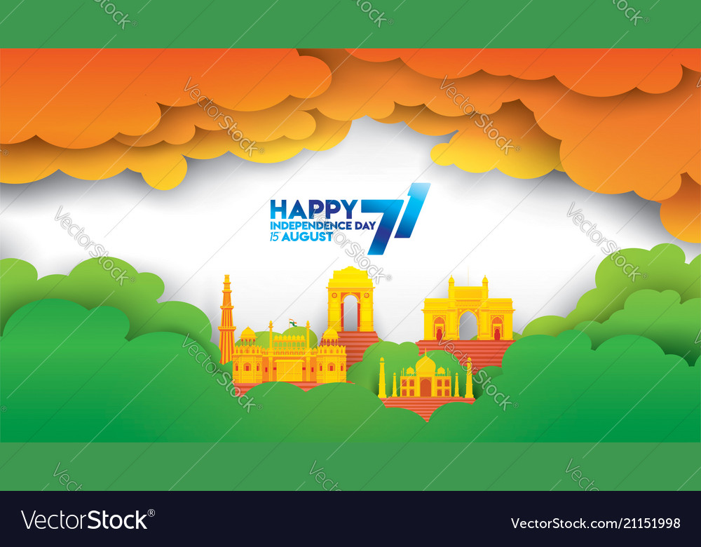 Indian Independence Day Royalty Free Vector Image