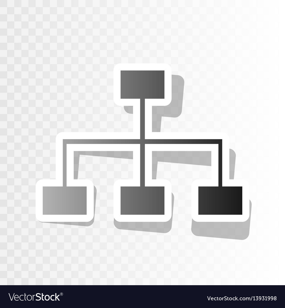Site map sign new year blackish icon on