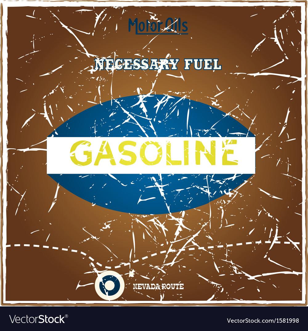 Vintage gasoline poster