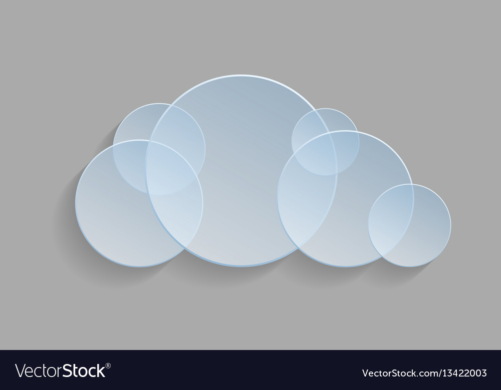 Abstract cloud icon on a gray background vector image