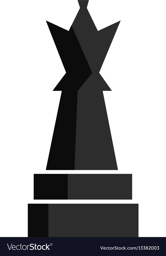Chess play figure for app game or web ui design vector image