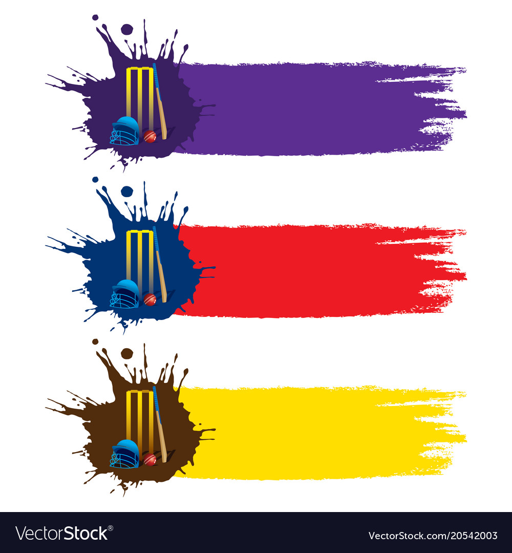 colorful cricket banner or poster design vector image rh vectorstock com vector holster vector post driver