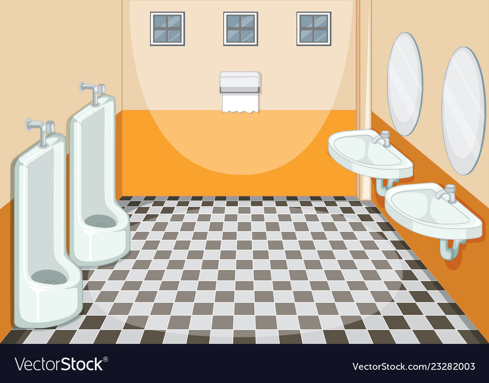 Interior Design Of Male Toilet Royalty Free Vector Image