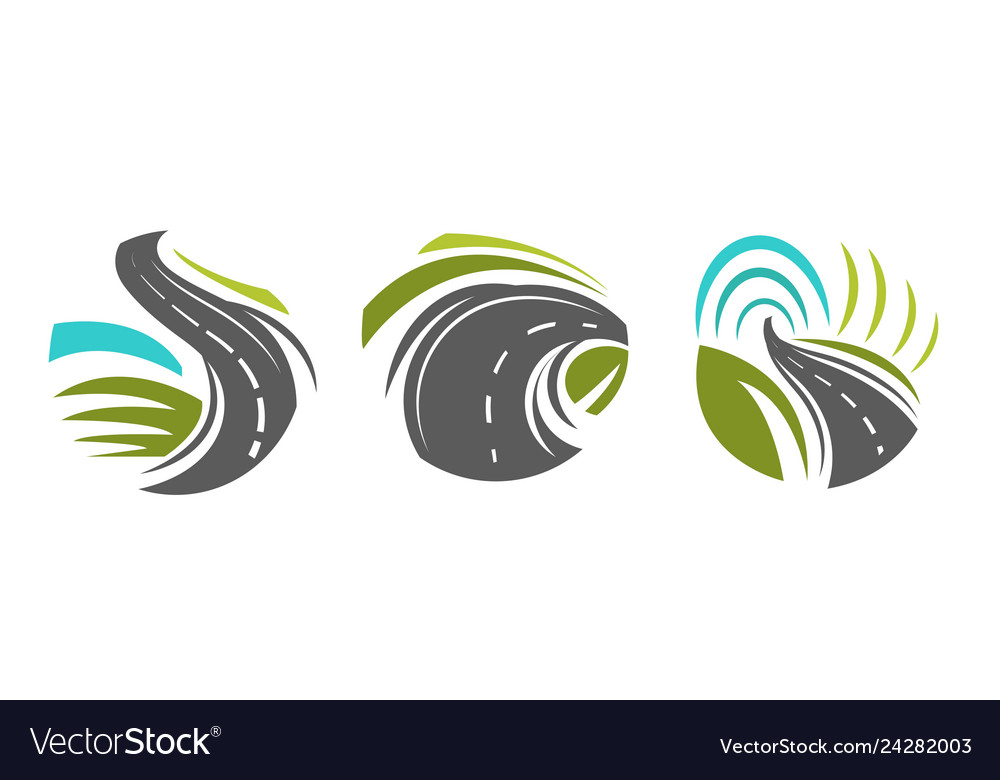 Roads and navigation highway isolated icons