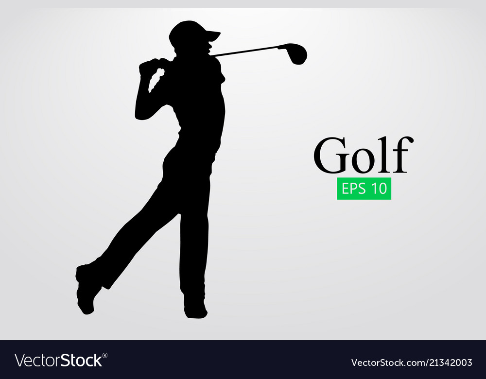 Silhouette Of A Golf Player Royalty Free Vector Image