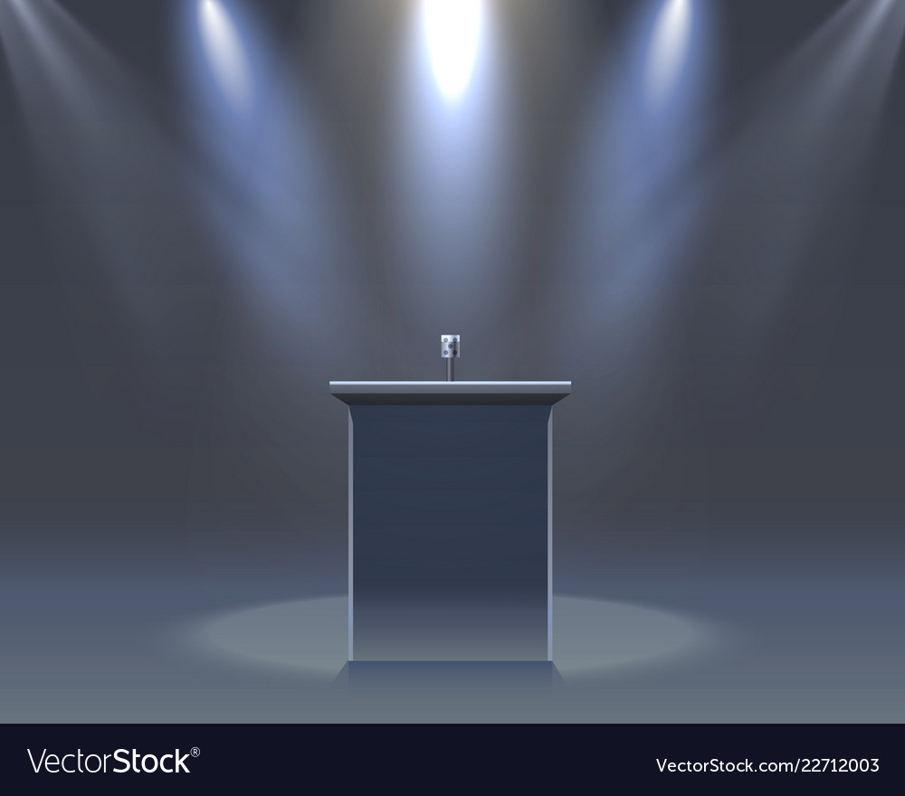 The microphone on the black scene