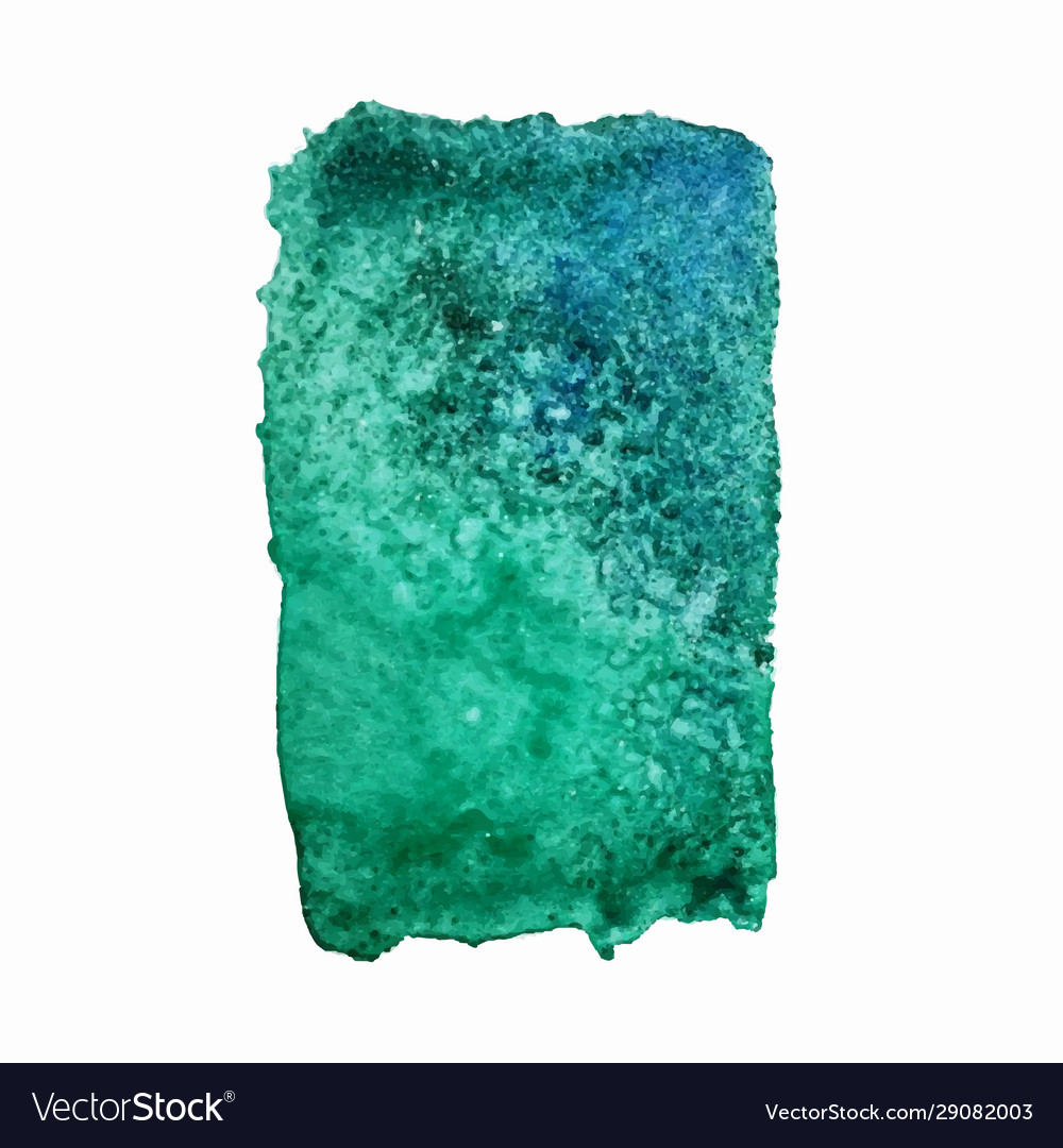 Turquoise watercolor stain