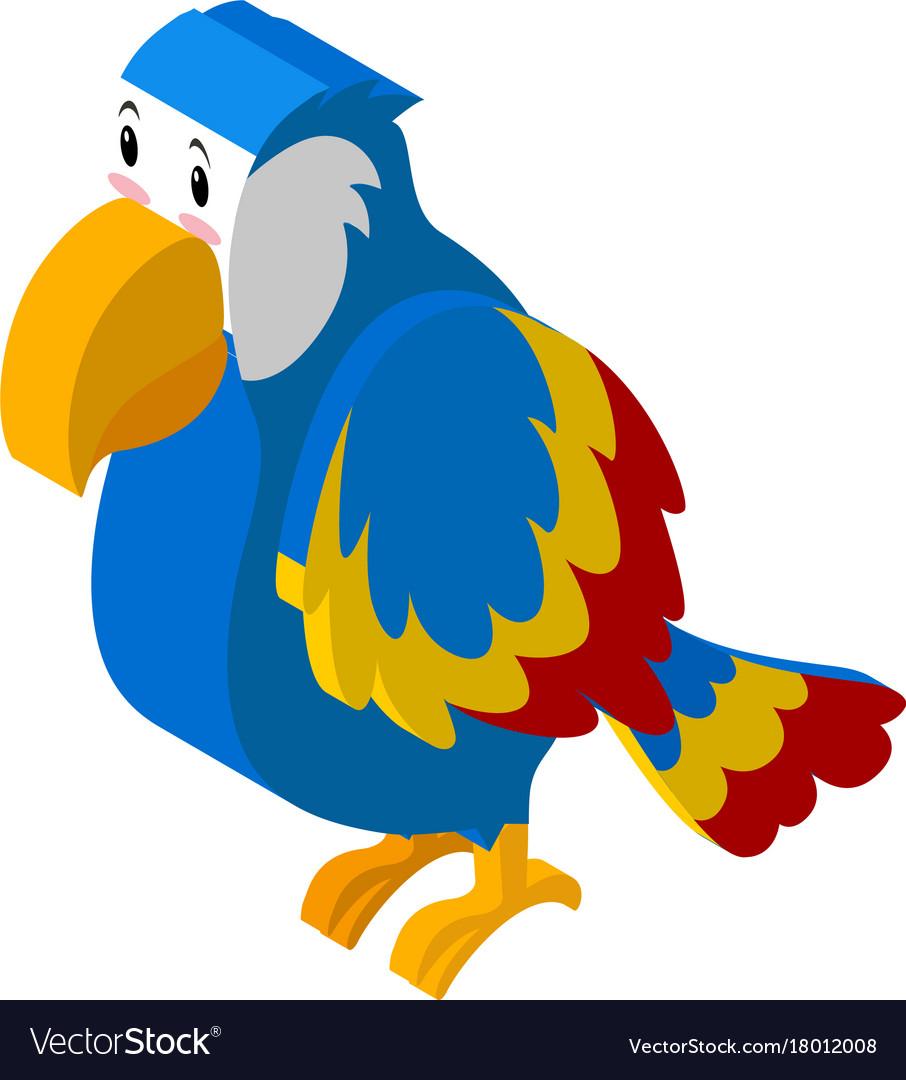 3d design for colorful parrot