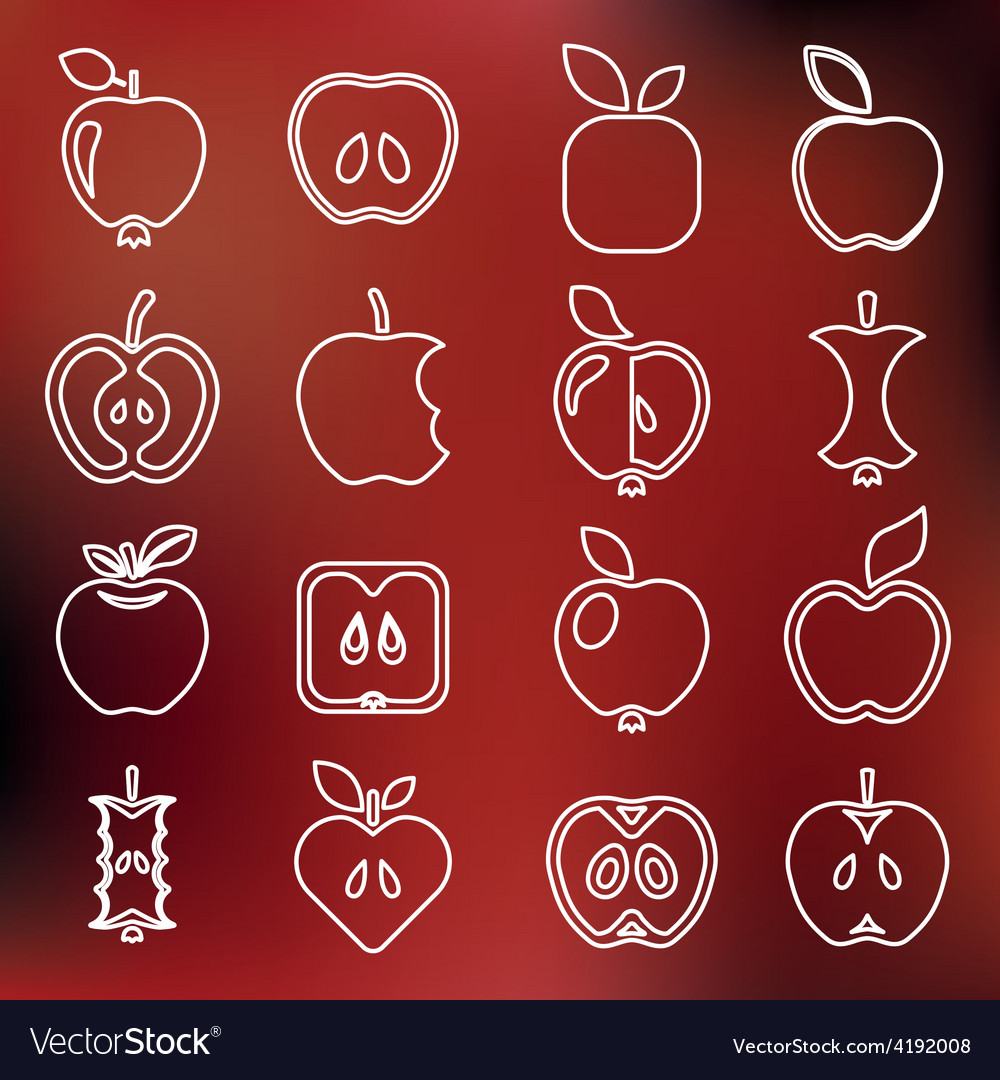 Apple outline icons