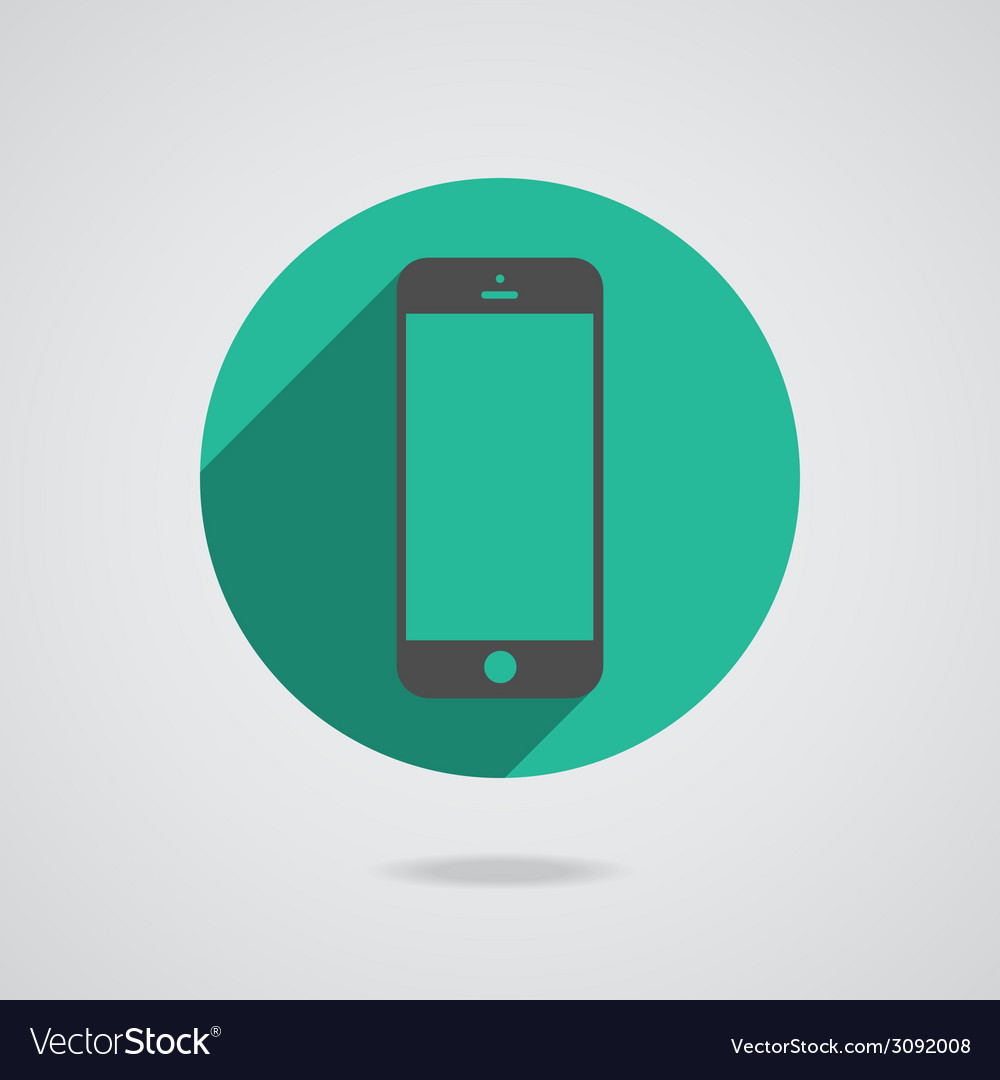 Mobile phone in black line