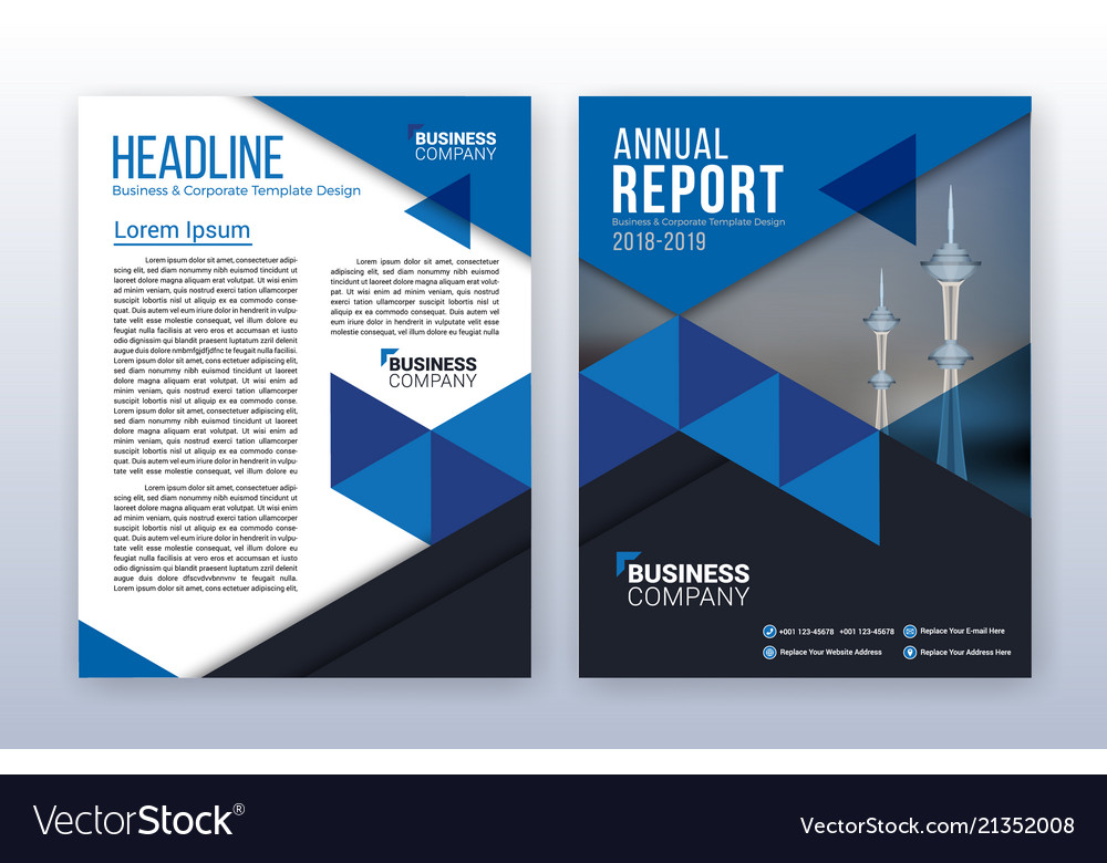 Modern business annual report template royalty free vector modern business annual report template vector image friedricerecipe Choice Image