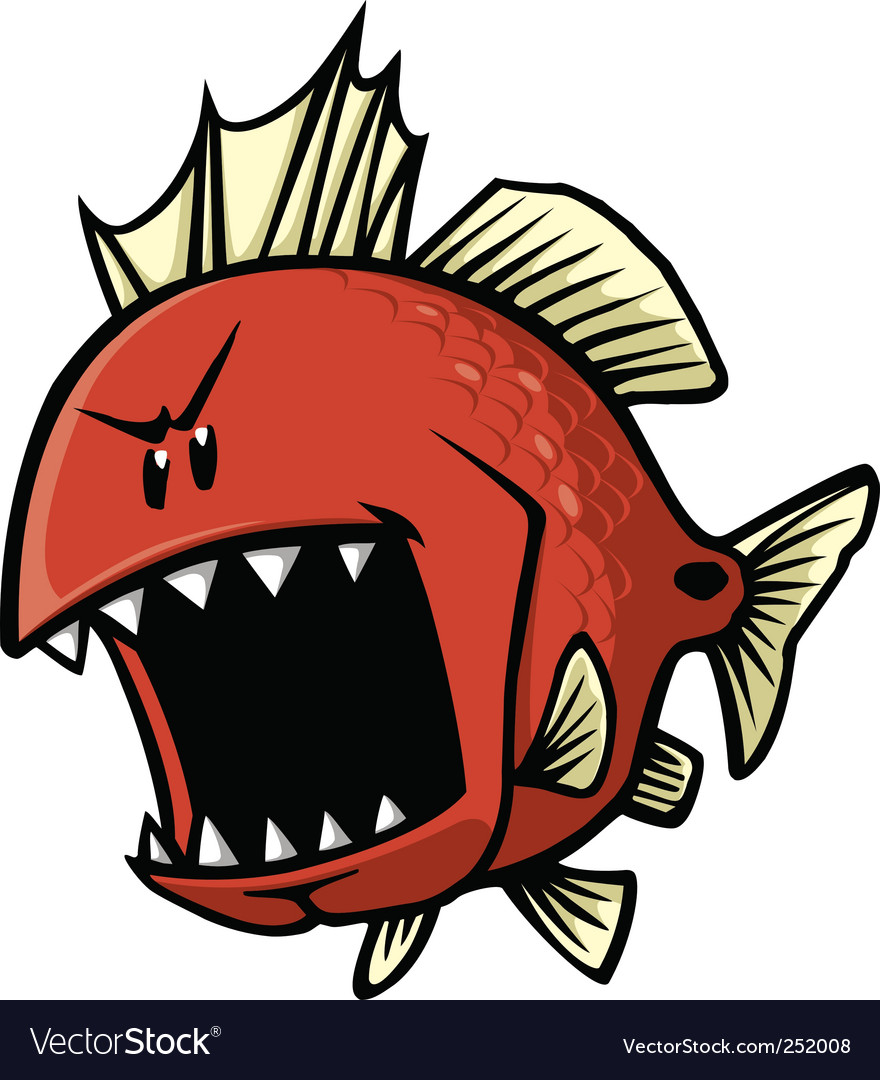 Red fish vector image
