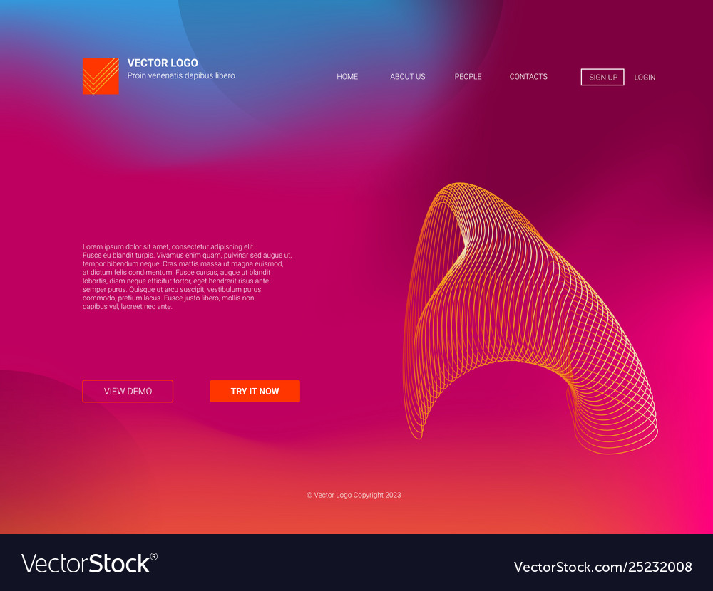 Responsive landing page web template or apps
