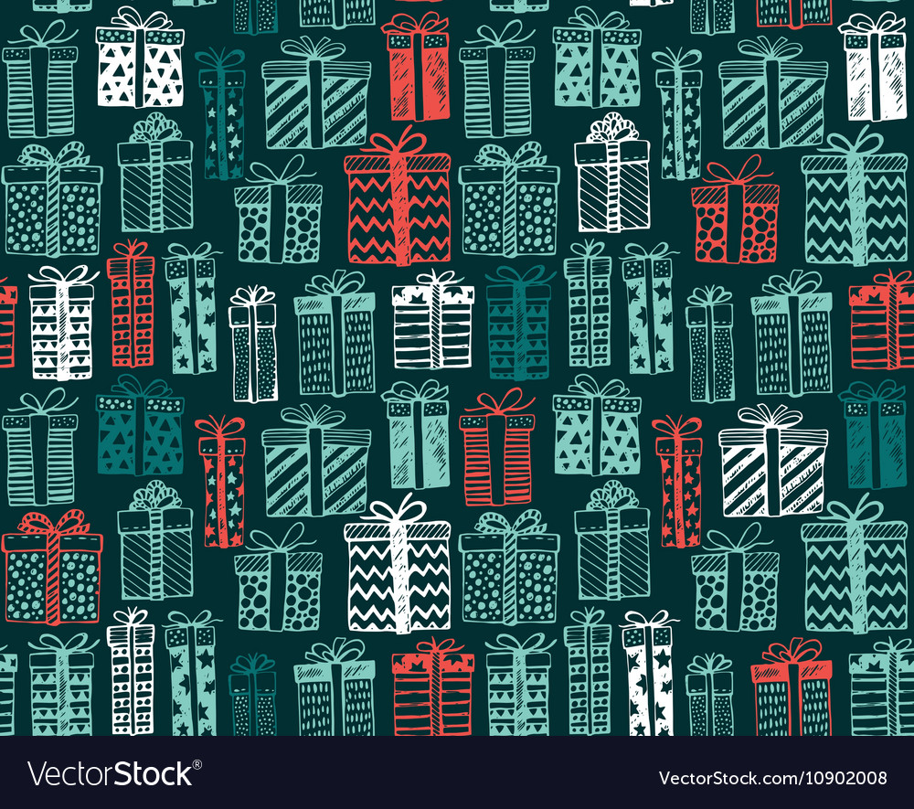 Seamless pattern with Christmas or birthday