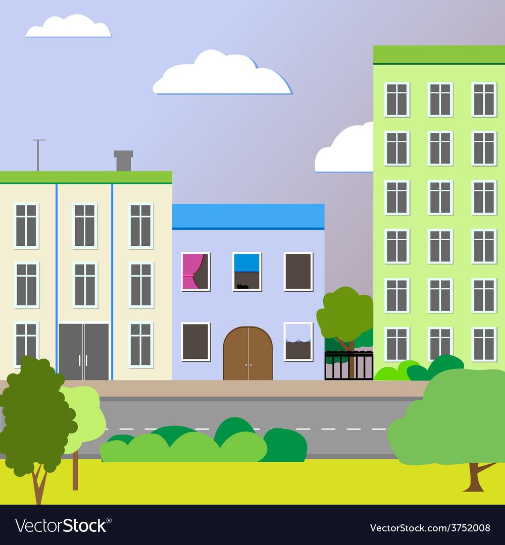 Sleek design a city street