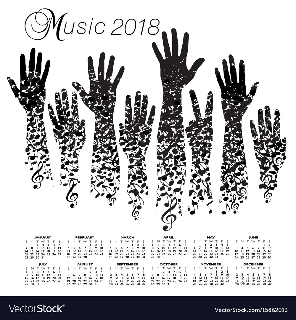 A creative 2018 musical calendar