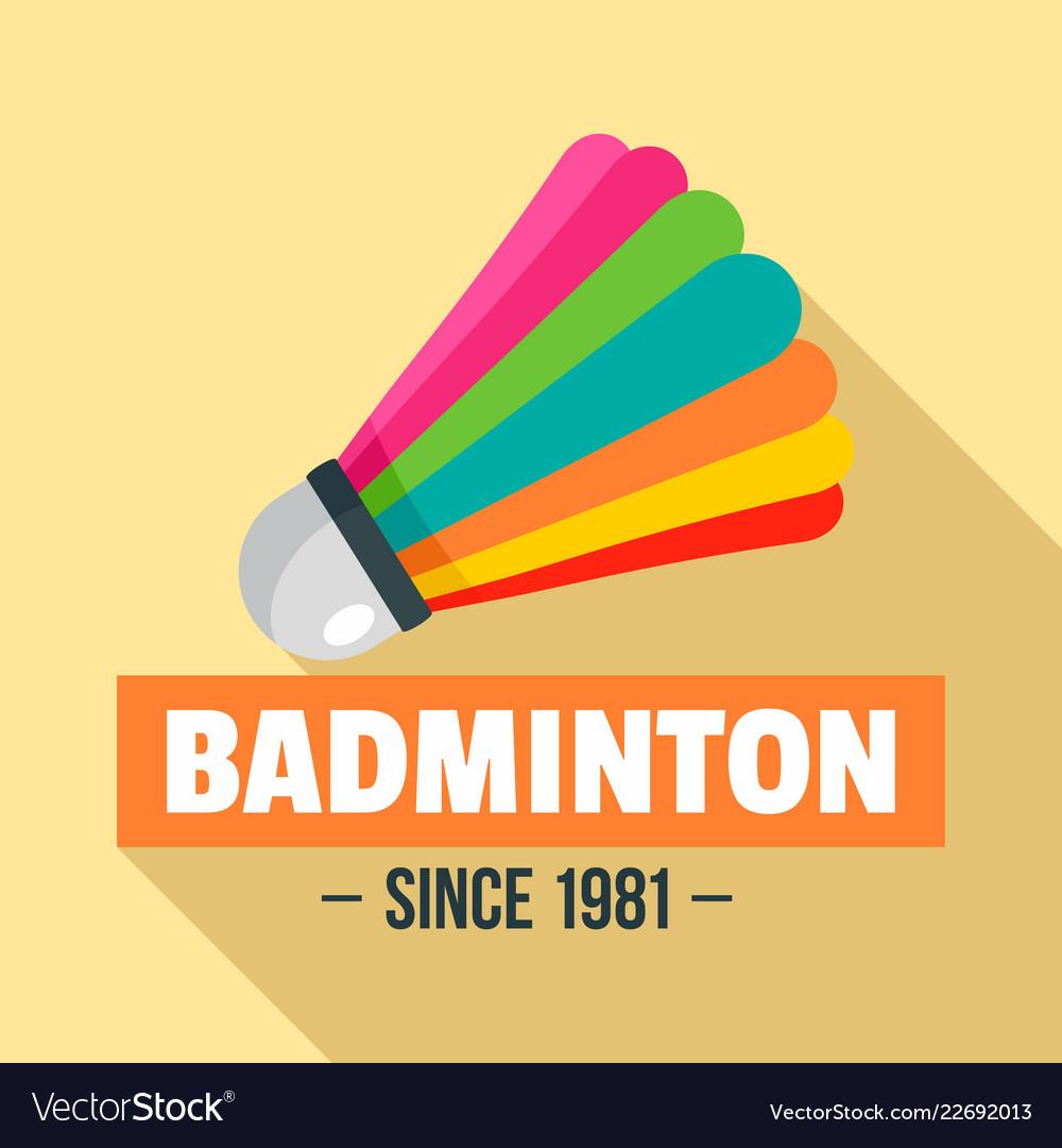 Badminton logo flat style