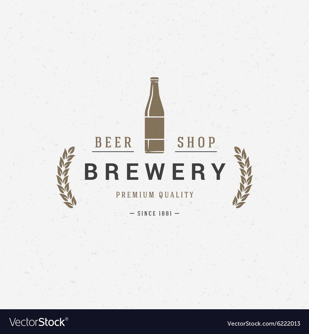 Beer bottle logo or badge design element