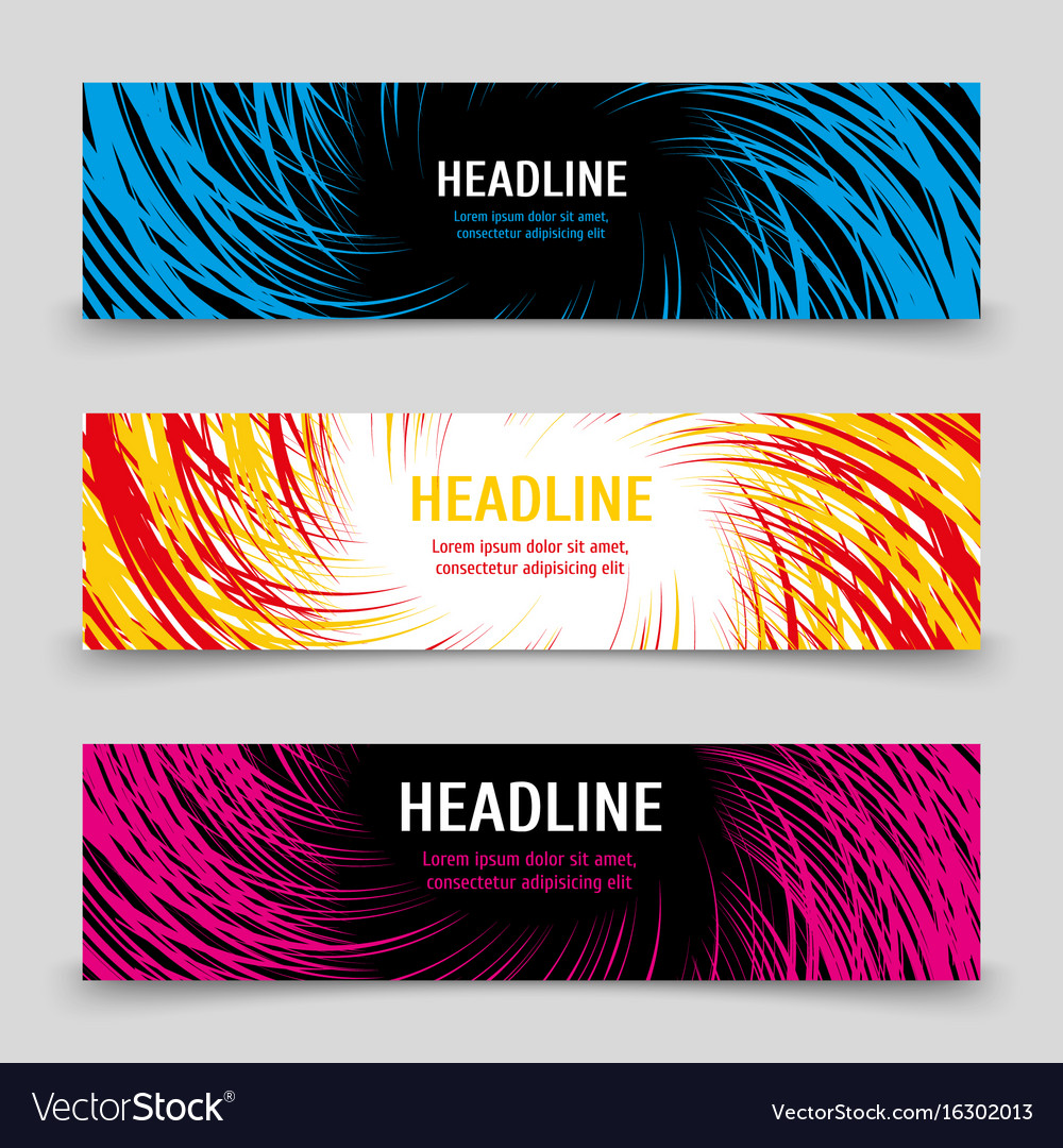 Business banners template with colorful spirals
