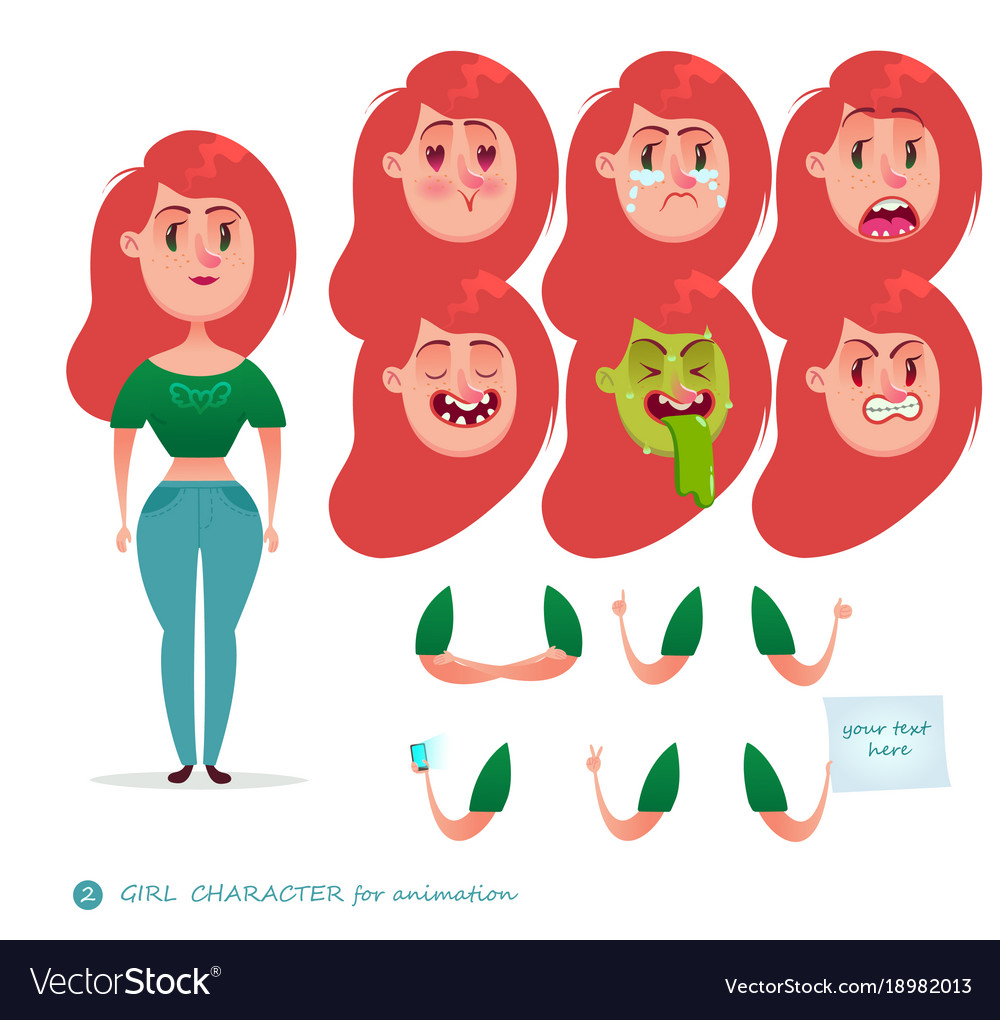 Emoji Face Icons Student Woman Royalty Free Vector Image