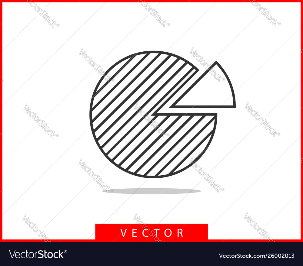 Pie chart icon circle diagram charts graphs logo