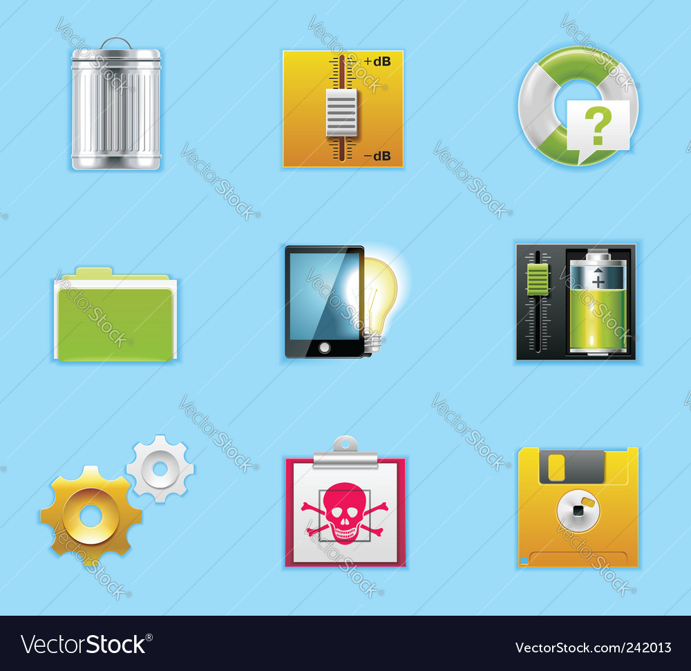 Typical smartphone apps icons