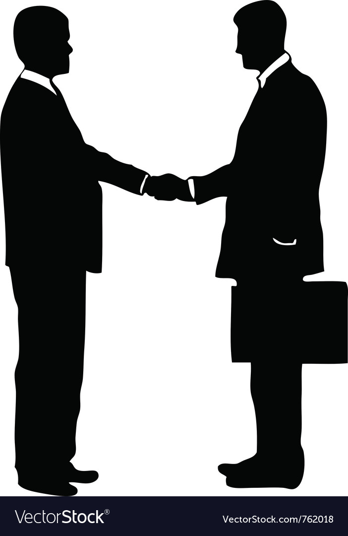 businessmen shaking hands royalty free vector image rh vectorstock com shaking hands vector woman shaking hands vector image
