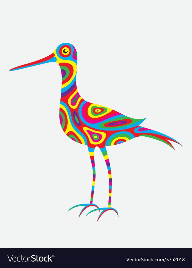 Egret colorfully
