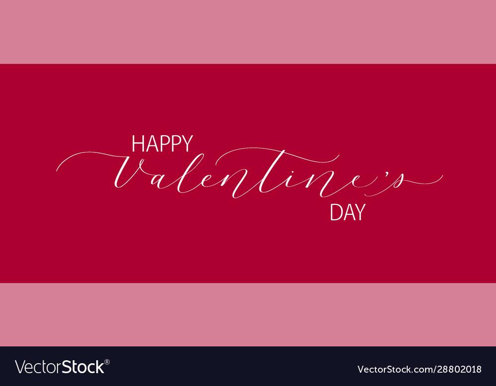 Happy valentine day retro classic romantic design