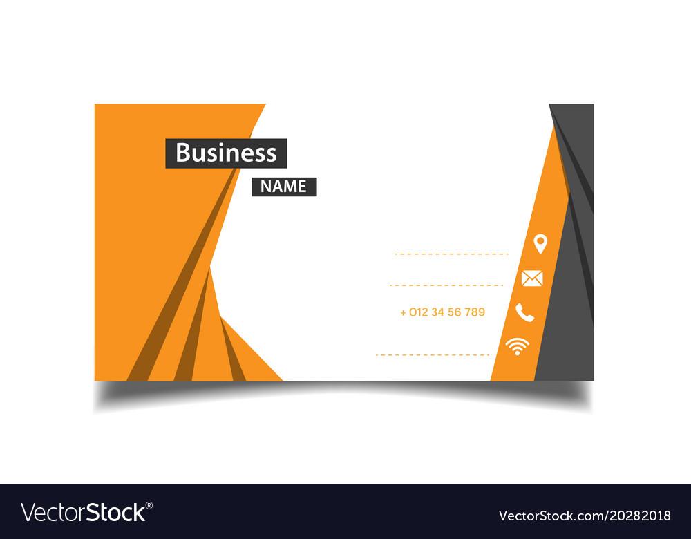 Modern orange and black business card image vector image colourmoves