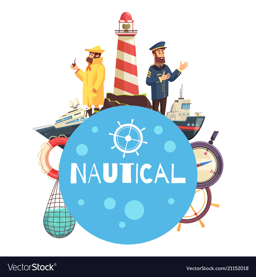 Nautical cartoon concept