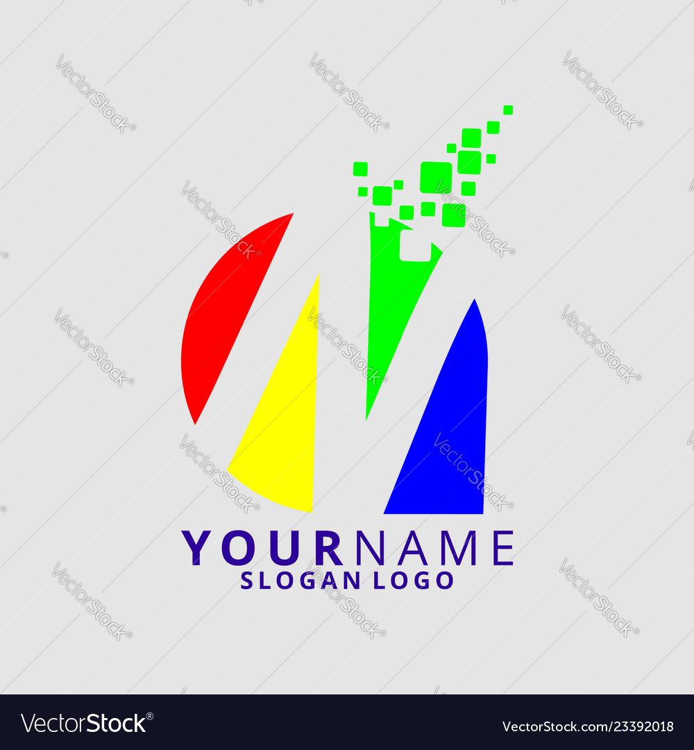 Rainbow letter n 01