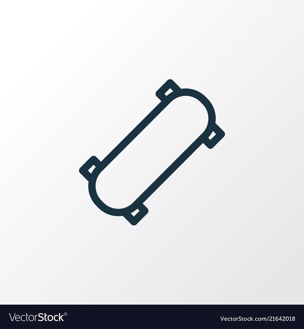 Skateboard icon line symbol premium quality