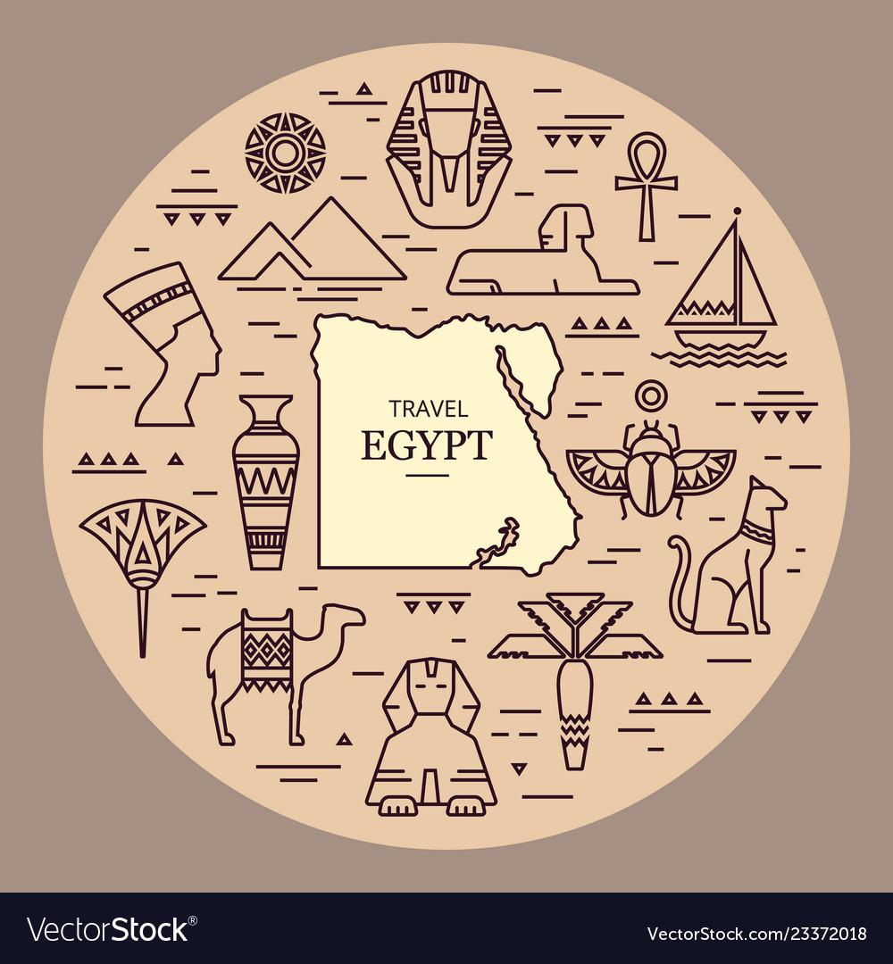 Tribal art egyptian ethnic icon egypt sketch