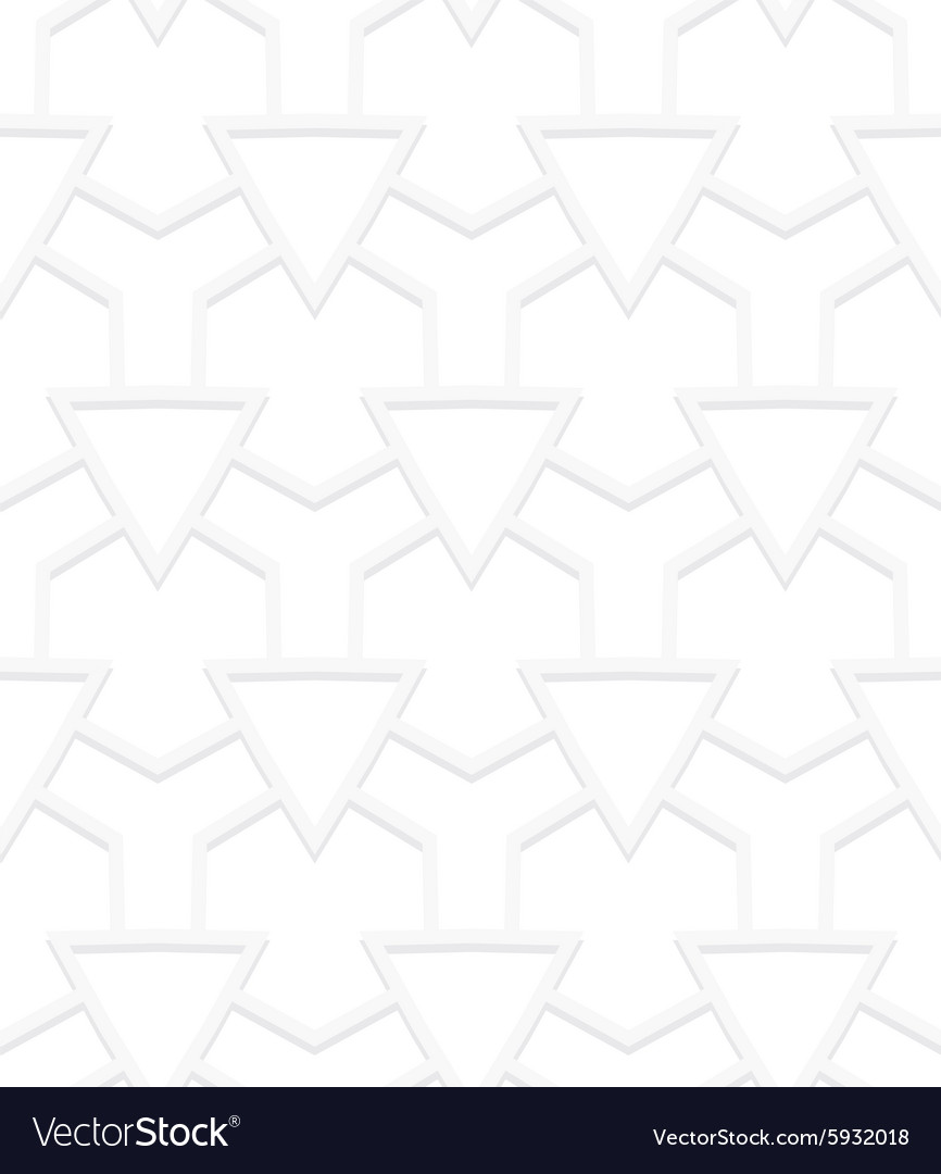 White art deco pattern vector image