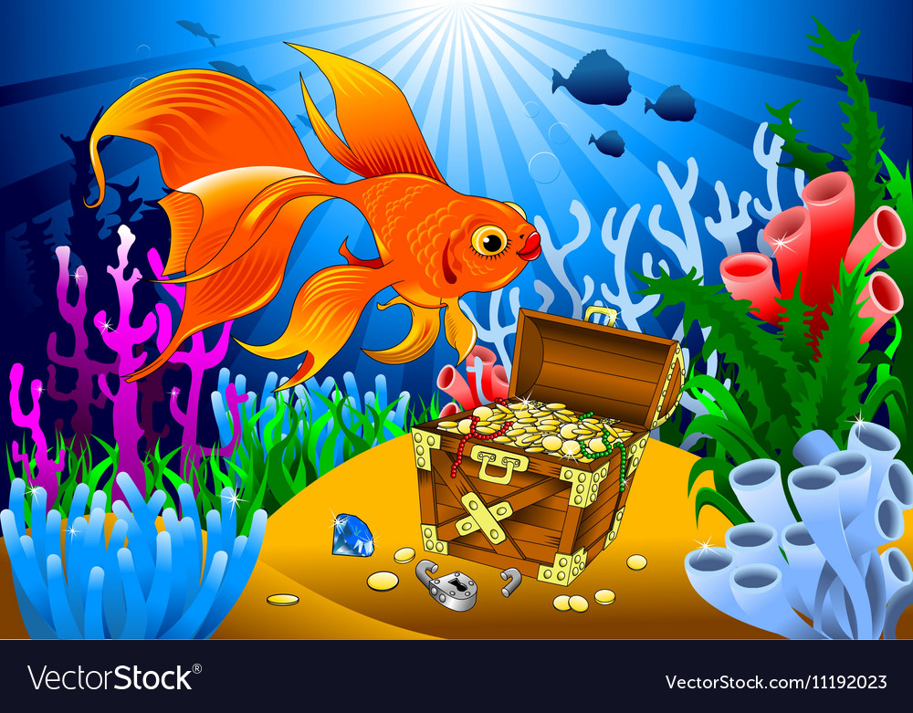Cartoon sealife background