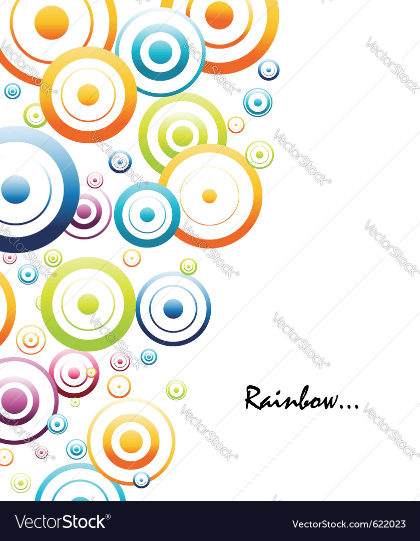 Colorful rainbow circles