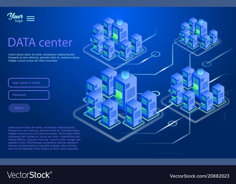 Data center design concept isometric