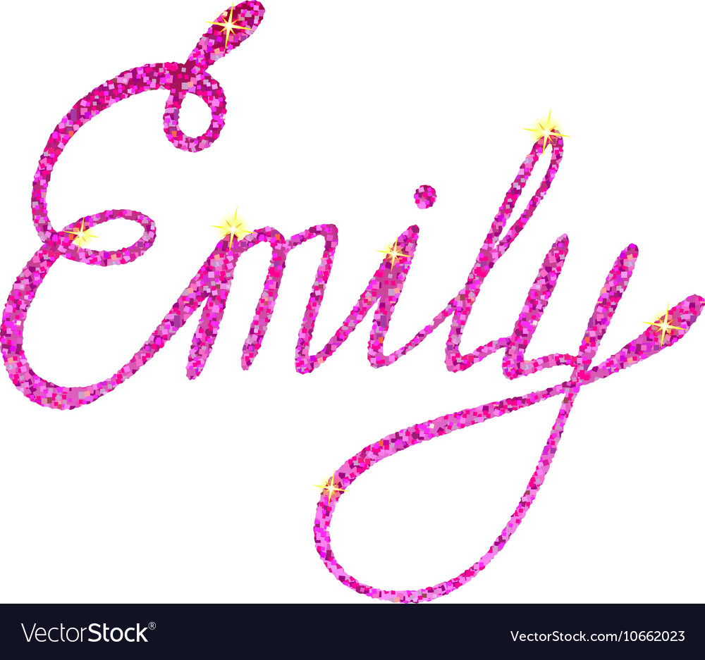 Emily name lettering tinsels