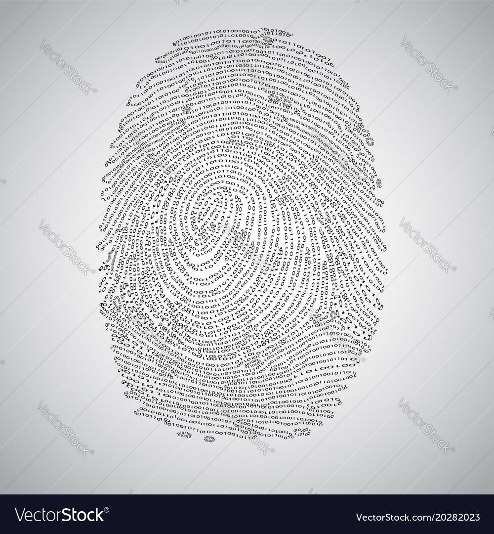 Fingerprint made by binary code