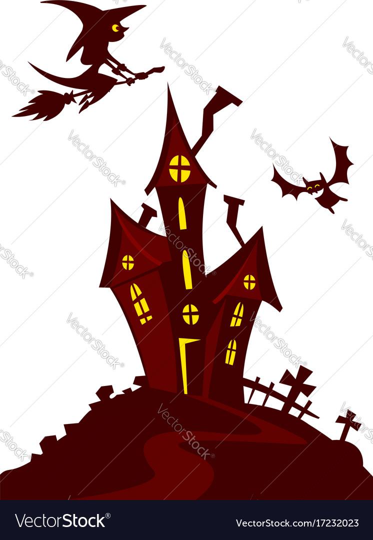 haunted house cartoon royalty free vector image rh vectorstock com halloween haunted house vector haunted house vector free download
