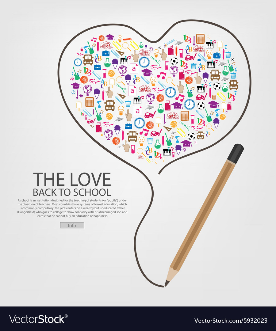 Pencil draw heart template design with heart vector image maxwellsz