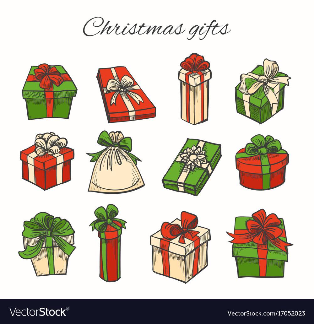 Set of christmas gifts
