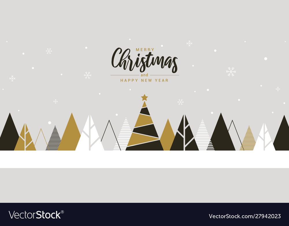 Simple holiday new year card