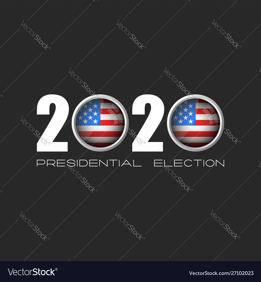 Usa presidential election logo number 2020