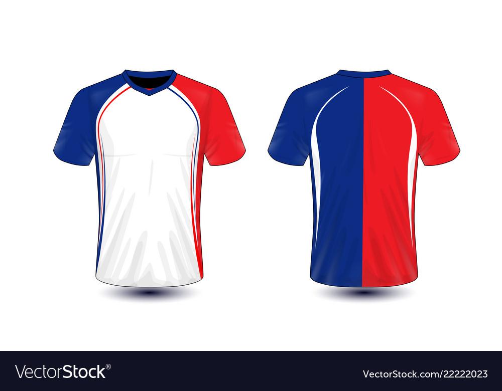 molti alla moda ottima qualità davvero comodo White blue and red layout e-sport t-shirt design