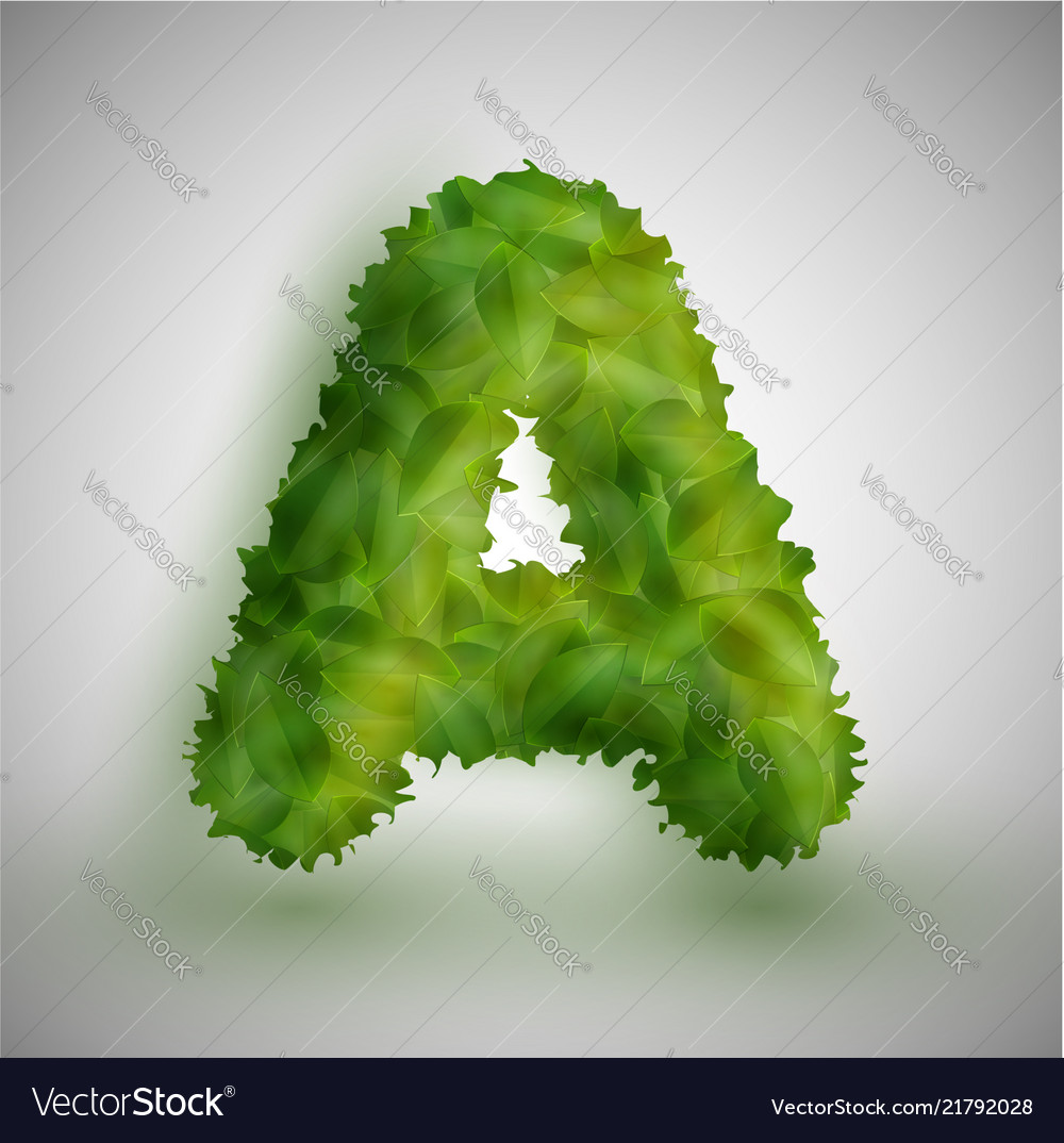 A letter made by leaves