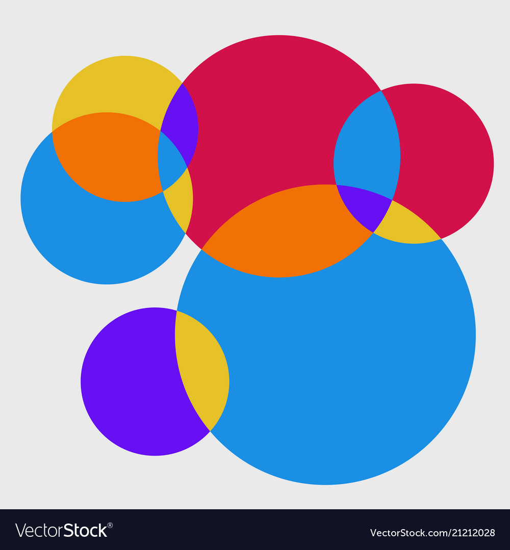 Abstract of fresh colorful circle pattern